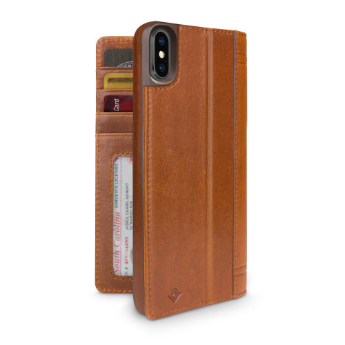 Twelve South 12-1817 Journal for iPhone XS Max - Cognac 12-1817