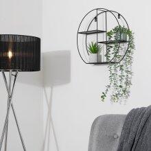 Elegant Circular Shelf Display Your Favourite Photos & Plants - Black