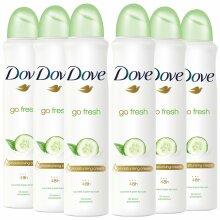 Dove Women Anti-Perspirant Deodorant Spray, Cucumber & Green Tea, 6 Pack, 250ml