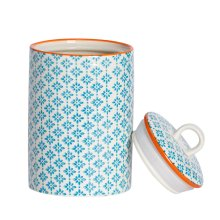 Kitchen Utensil Holder Pot - Porcelain Kitchen Storage - Blue Print Design