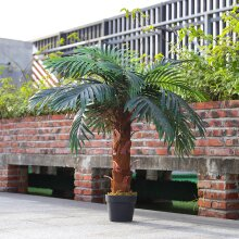 100cm Large Faux Palm Tree Fake Artificial Green Plants Realistic Tree Garden