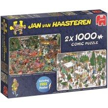 Jumbo Jan van Haasteren Christmas Gifts 2 x 1000 Piece Jigsaw Puzzle
