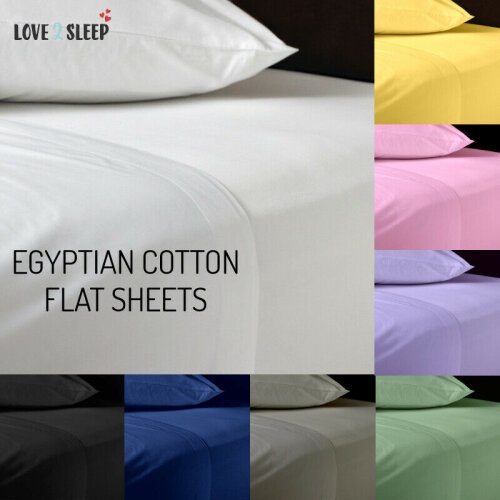 Flat Sheet Egyptian Cotton Hotel Quality 4FT Small Double