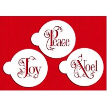 Joy Noel and Peace Cookie Set by Designer Stencils