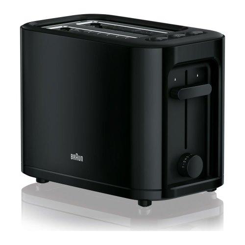 BRAUN Series 3 PurEase HT3000.BK 2-Slice Toaster - Black, Braun
