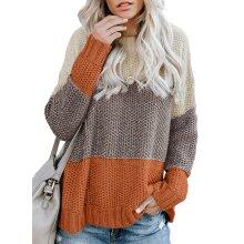 Buteene Women's Chunky Knit Sweater | Long Sleeve Pullover Jumper