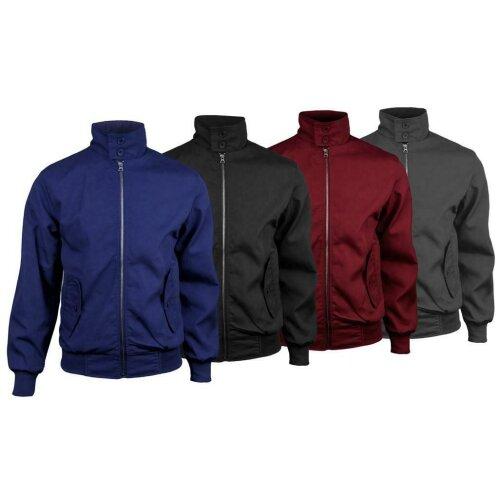 Men's Classic Location Harrington Mod Coat Jacket Tartan Lining