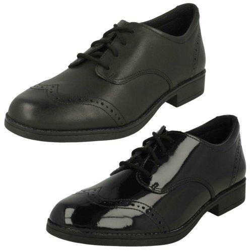 *SALE* Start-rite Angry Angels MEG Girls/'s Black Leather Slip On School Shoe