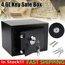 4.6L Fireproof Safe Box Security Home Office Money Cash w/Keys