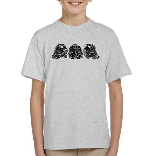 Original Stormtrooper Imperial TIE Pilot Helmet Trio Kid's T-Shirt