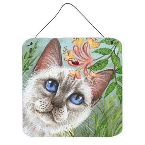 White Cat Saphire Eyes Wall or Door Hanging Prints
