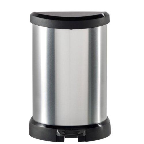 Curver Deco Black & Silver Pedal Bin 20L [220959]