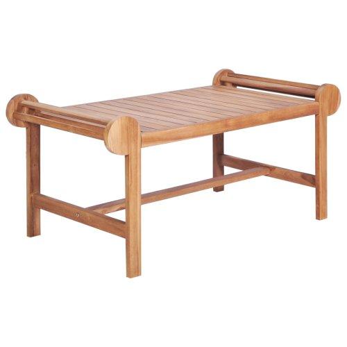 vidaXL Solid Teak Coffee Table Outdoor Garden Furniture Marlboro Plant Stand