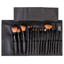 LaRoc 16pc Cosmetic Brush Set | Makeup Brushes In Roll