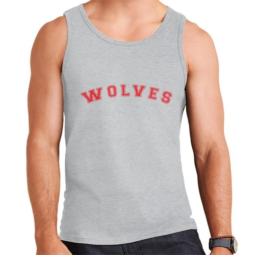 Wolves Baseball Style Font Men's Vest