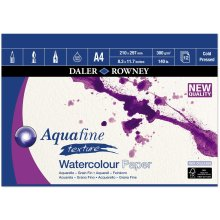Daler Rowney Aquafine artists watercolour texture pad A4 12 sheets 300gsm Cold Pressed