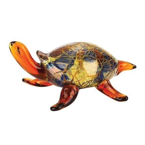 Badash J580 5.5 x 3 in. Firestorm Art Glass Turtle