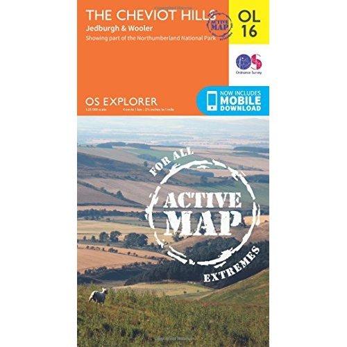 OS Explorer ACTIVE OL16 The Cheviot Hills (OS Explorer Map)