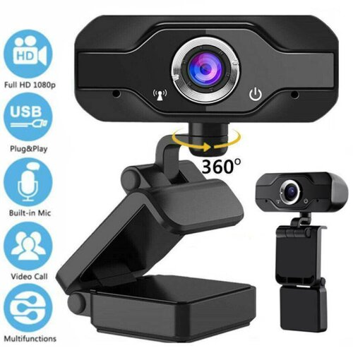 Full HD 1080P Webcam With Microphone MIC USB Camera For PC Desktop Laptop UK