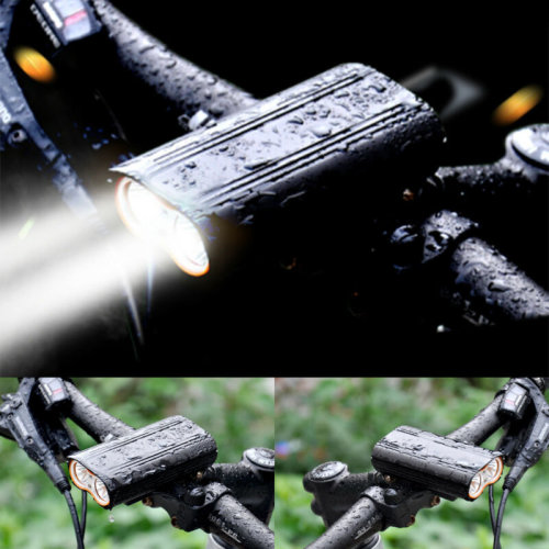 MTB Waterproof Bike Cycling Front Light USB Rechargeable T6 LED