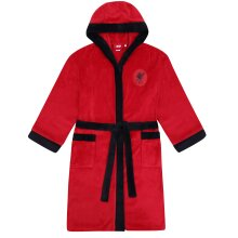 Liverpool FC Official Football Gift Mens Hooded Fleece Dressing Gown Robe