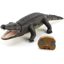 Top Race Remote Control Crocodile, Prank Crocodile RC Animal Toy, Looks Real Feels Real Roars and Moves Like a Real Crocodile (TR-Croc)
