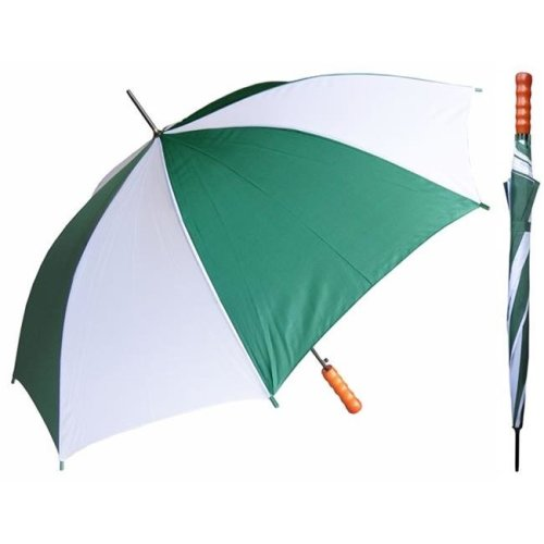 RainStoppers W007DWH 48 in. Auto Open Assorted Colors Sport Umbrellas with Wood Handle, 12 Piece