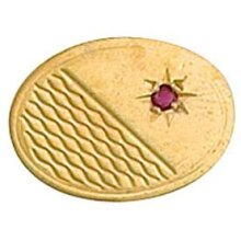 Ruby Lapel Pin Cravat Pin Yellow Gold Made To Order in Jewellery Quarter B'ham
