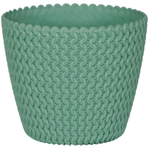Geli Hipster Knitted Plastic Plant Flower Pot Cachepot (19, Mint Green)