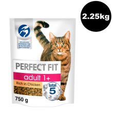 Perfect Fit Cat Complete Dry Adult 1+ Chicken 3x750g