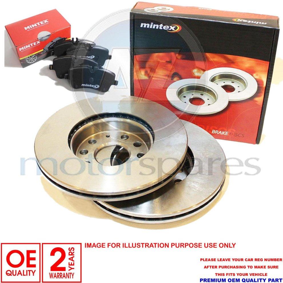 FOR AUDI S5 3.0 V6 FRONT CROSS DRILLED MINTEX BRAKE DISCS PADS SET 345mm