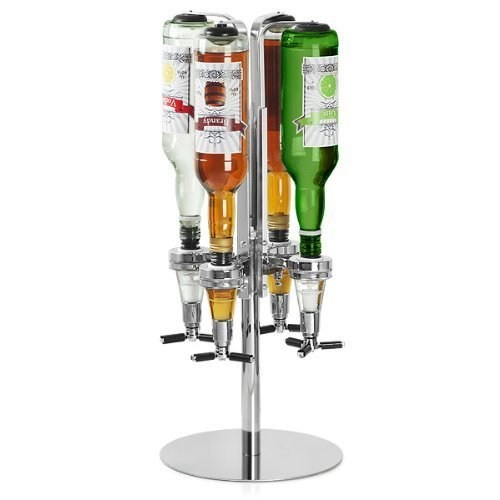 Deluxe Rotary 4 Standard Bottle Stand Optic Holder Extra Heavy Base