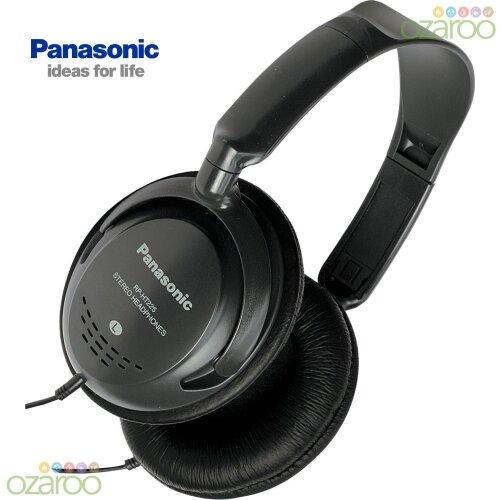 Panasonic Monitor Headphones with In-Line Volume Control - Black (RPHT225)