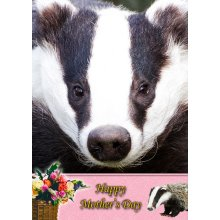 """Badger Mother's Day Greeting Card 8""""x5.5"""""""