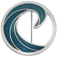 The Seventh Wave Brooch Silver Plated Brand New Gift Packaging