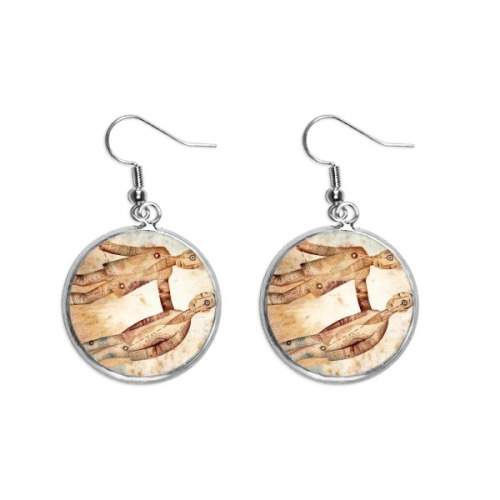 May June Gemini Constellation Zodiac Ear Dangle Silver Drop Earring Jewelry Woman