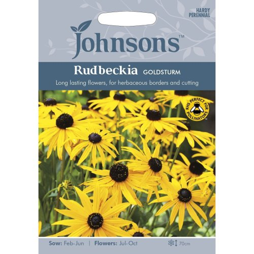 Johnsons Seeds - Pictorial Pack - Flower - Rudbeckia Goldsturm - 125 Seeds