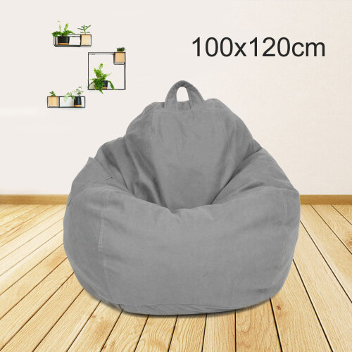 Large Bean Bag Chairs Couch Sofa Cover Indoor Lazy Lounger No filling
