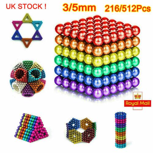 512pc 5mm Magnetic Coloured Balls UK STOCK!