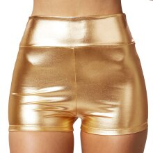 tectake Metallic Hotpants - gold S