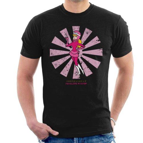 (Medium, Black) Penelope Pitstop Retro Japanese Wacky Races Men's T-Shirt
