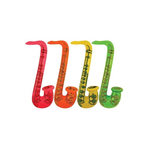 Inflatable Saxophone 55cm Blow Up Fancy Dress Party Musical Music Instrument