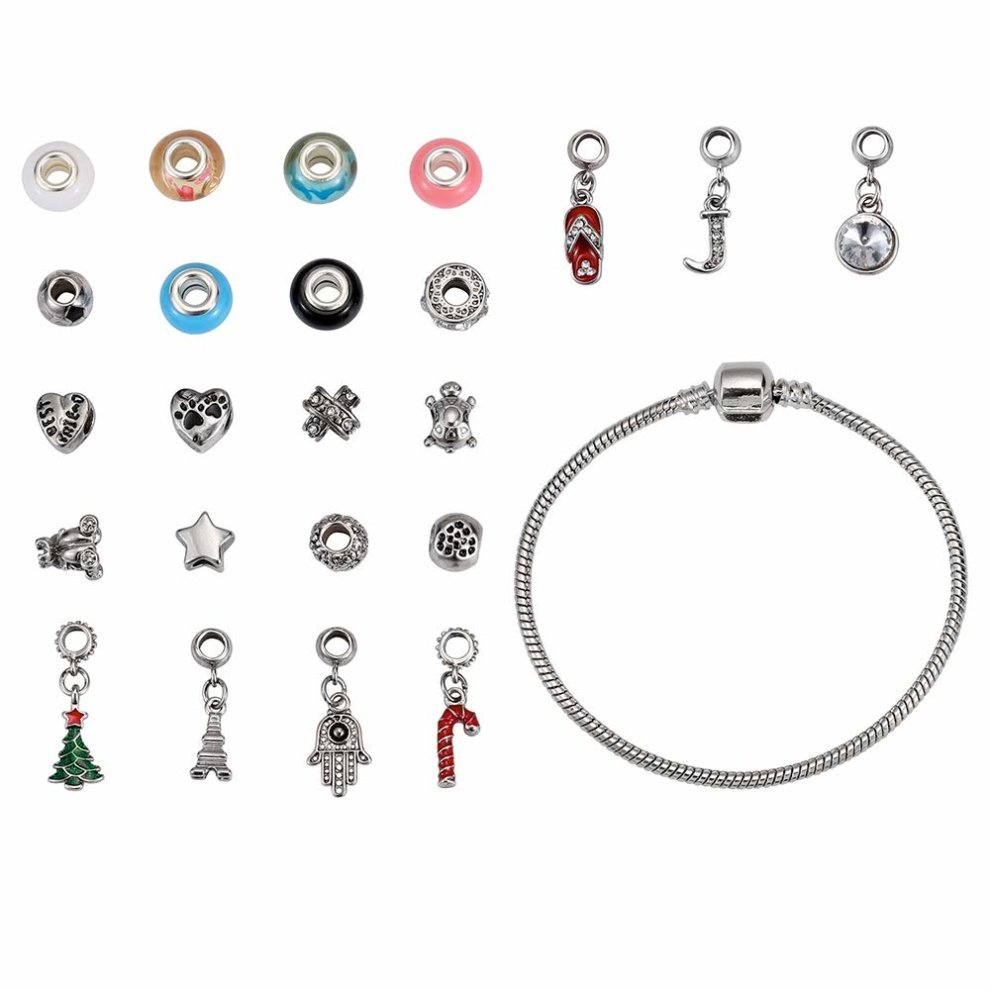 Mouttop Advent Calendar 24 Day Advent Calendar With Christmas Fashion Jewellery 23 Charms With 1 Bracelet And 1 Necklace On Onbuy