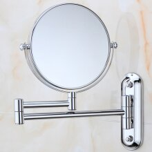 10X Magnifying Round Mirror Vanity Make Up Bathroom Wall Mounted UK