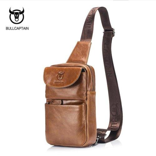 Men Leather Large Capacity eBook Bundle Headphone Messenger Shoulder Bag Handbag