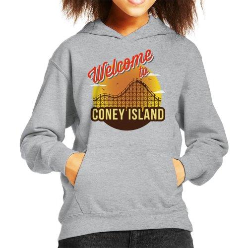 Welcome To Coney Island Retro Kid's Hooded Sweatshirt