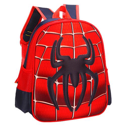 (Red + Black) Kids School Backpack Boys Girls Junior Toddlers Rucksack Book Bag