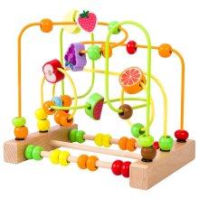 Kids Toys Montessori Wooden Toys Maze Circles Around Beads Abacus Math Toys Puzzle|Math Toys