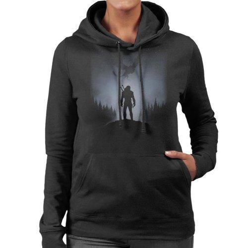 (Large) Witcher White Wolf Women's Hooded Sweatshirt