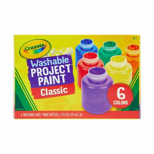 CRAYOLA WASHABLE KIDS PAINT PACK OF 6